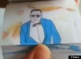 WATCH: Amazing Gangnam Style Flip Book Animation