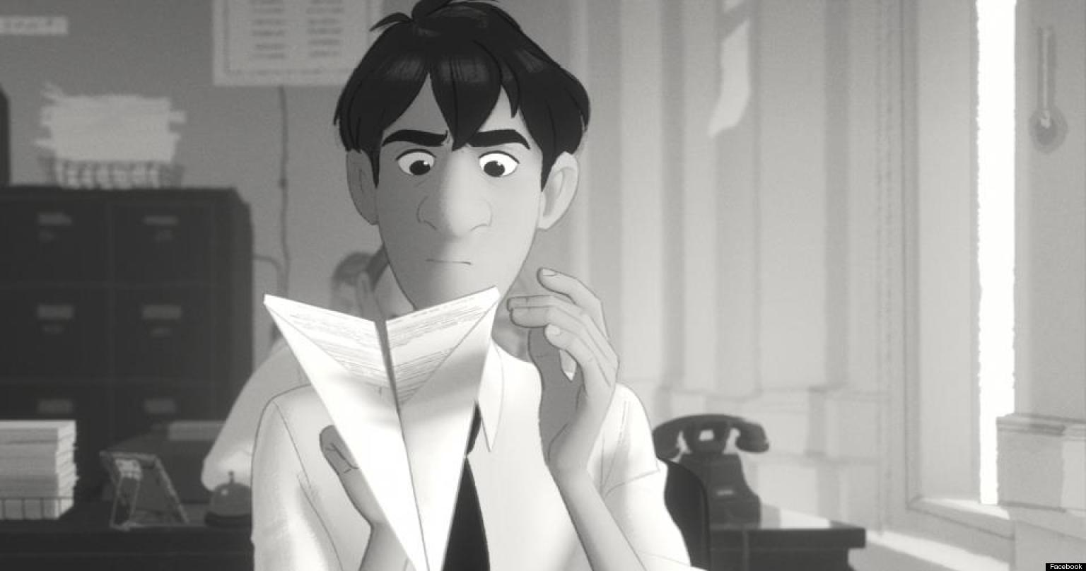paperman  un cartoon di 6 minuti della disney in corsa per l u0026 39 oscar  foto  video
