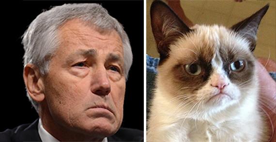 chuck hagel grumpy cat