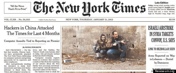 NEW YORK TIMES HACKING
