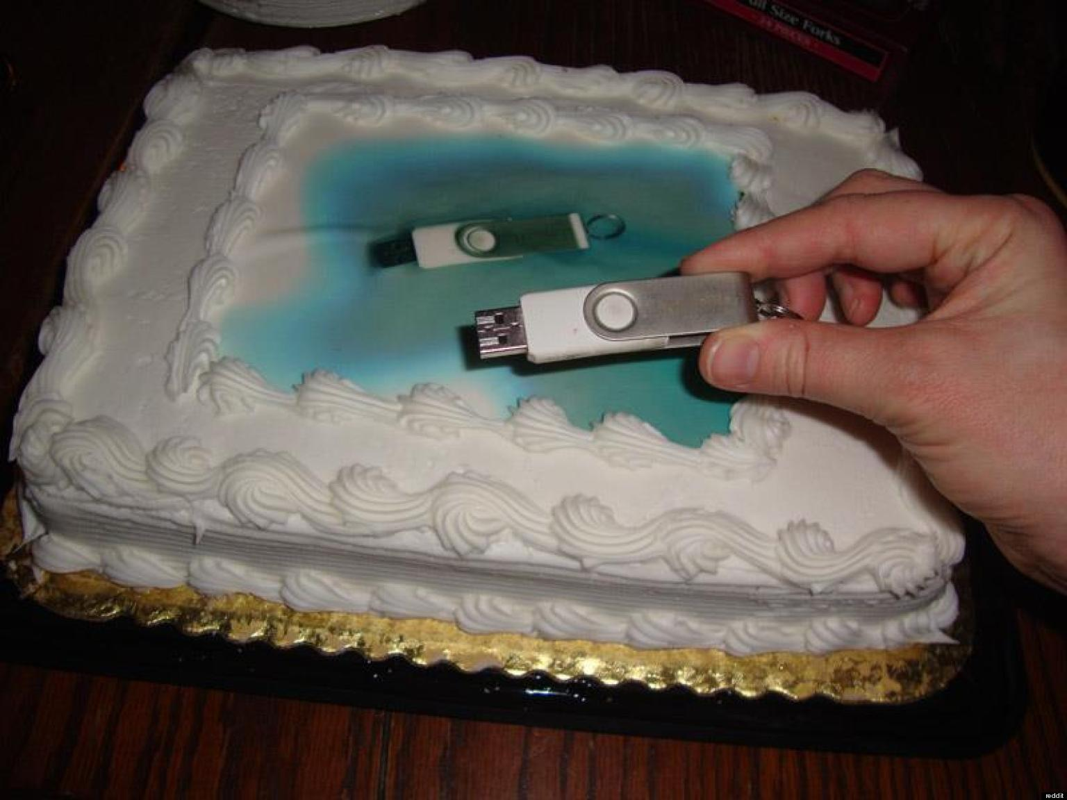 Usb Cake Mistake Baker Takes Instructions Quite Literally