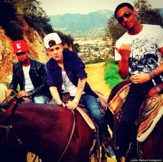 justin bieber horseback riding