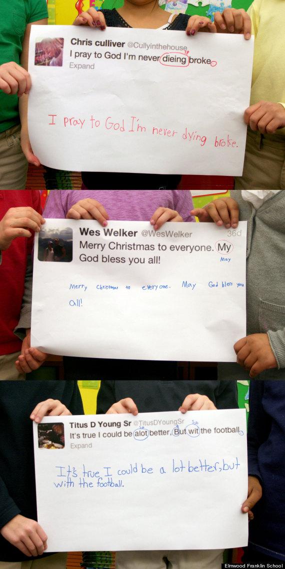 2nd graders edit nfl tweets
