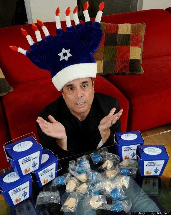 ray in menorah hat