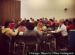 Chicago Mayor Rahm Emanuel suffers setback Tuesday morning.