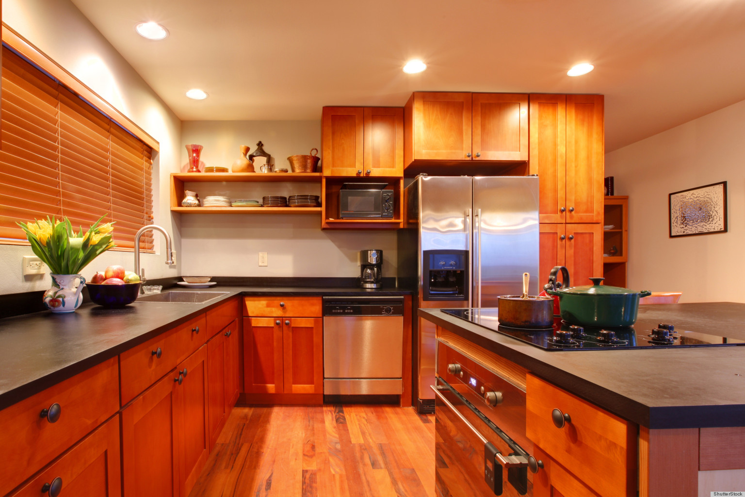 Cherry Wood Clean Cabinets