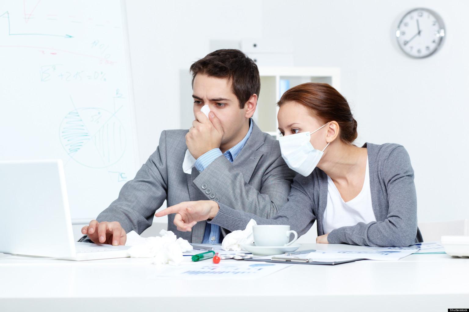 microbes et virus au bureau quatre heures pour contaminer. Black Bedroom Furniture Sets. Home Design Ideas