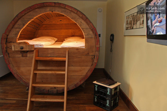beer hotel bed in germany made from old beer barrel huffpost. Black Bedroom Furniture Sets. Home Design Ideas