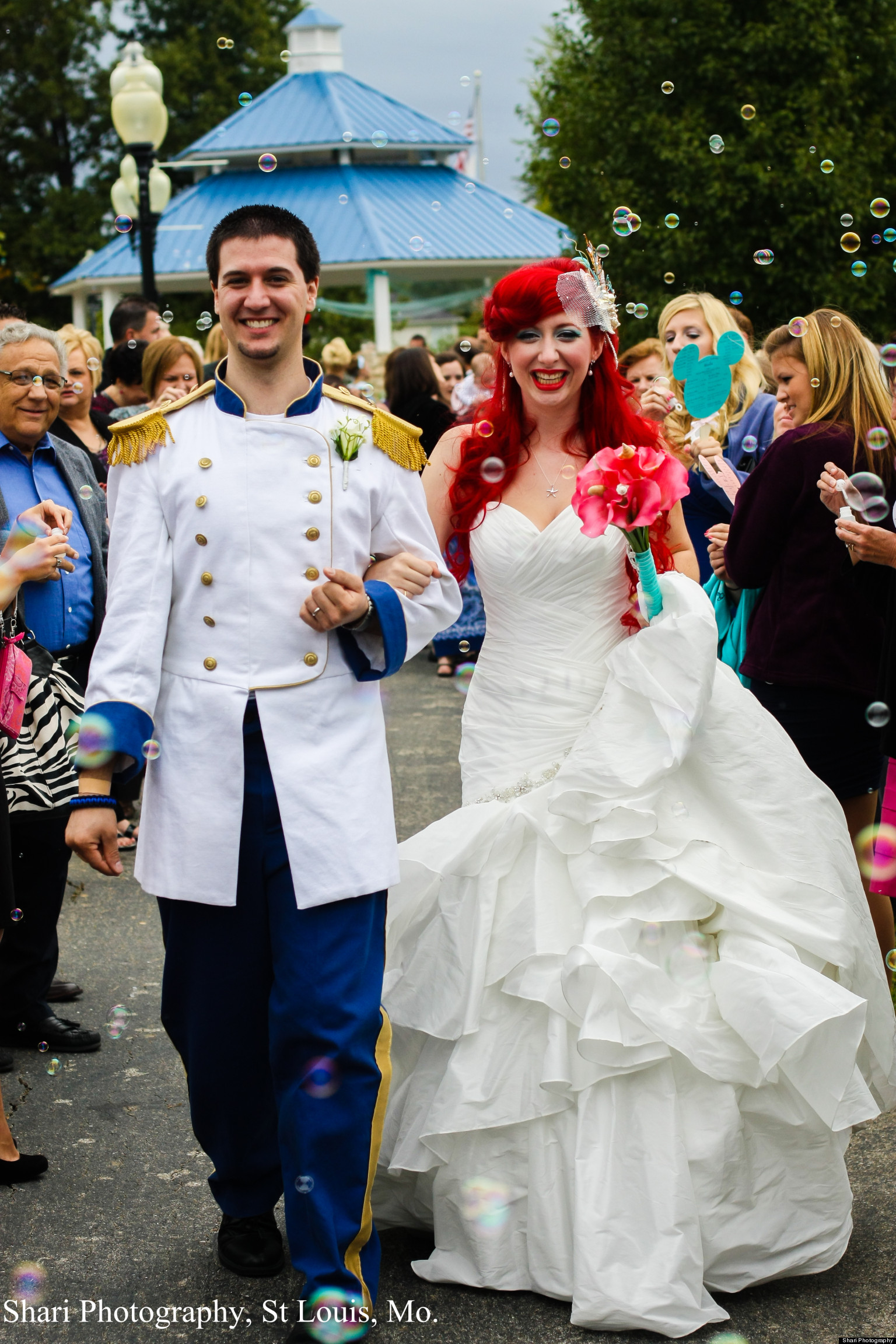 chandler throw over the top disney themed wedding photos huffpost