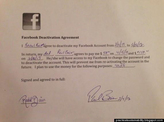 facebook agreement