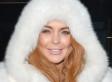 Lindsay Lohan Wears Strange Fur Hoodie To amfAR Gala (PHOTOS)