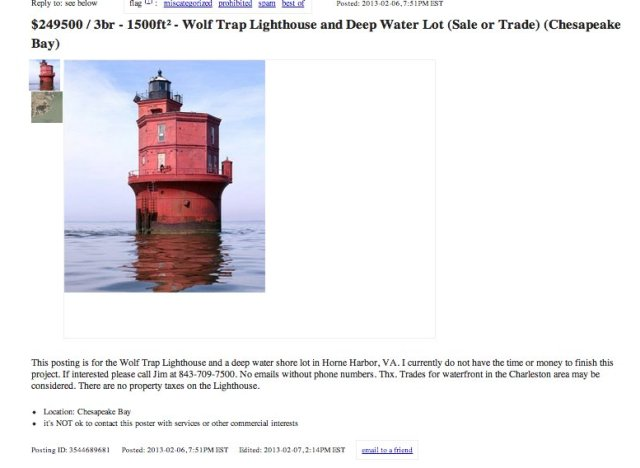 virginia lighthouse for sale