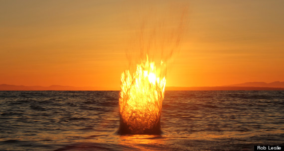 fire splash sunset white rock