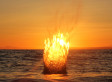 Fire Splash Sunset Photo Taken In BC Goes Viral
