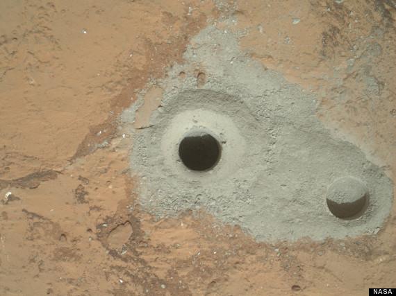mars rover drill rock