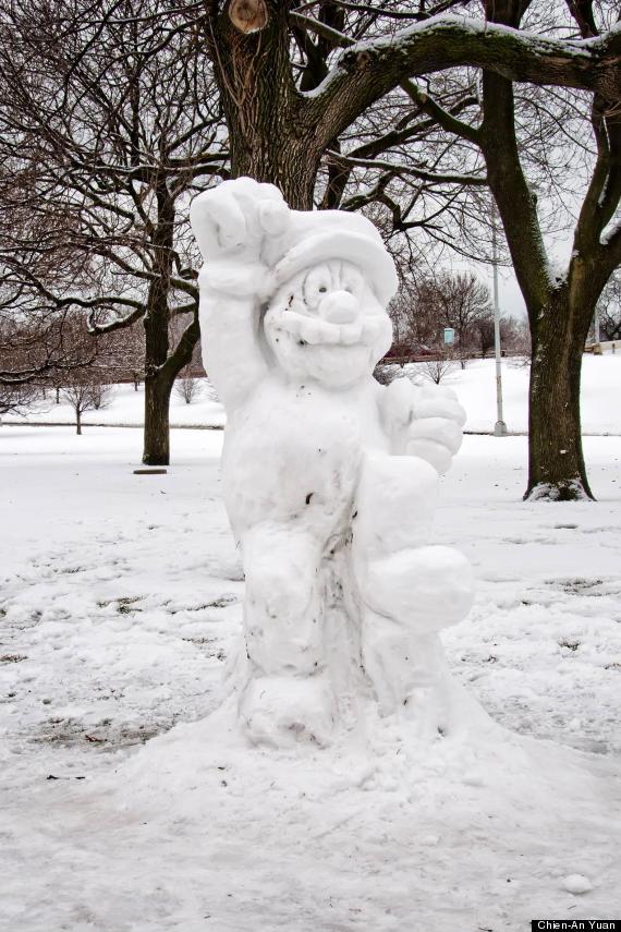 super mario snowman photo