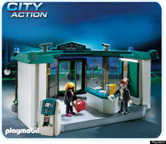 playmobil bank bank robbery