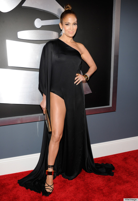 Jennifer Lopez Grammys Dress 2013: See The Singer's Red Carpet Look