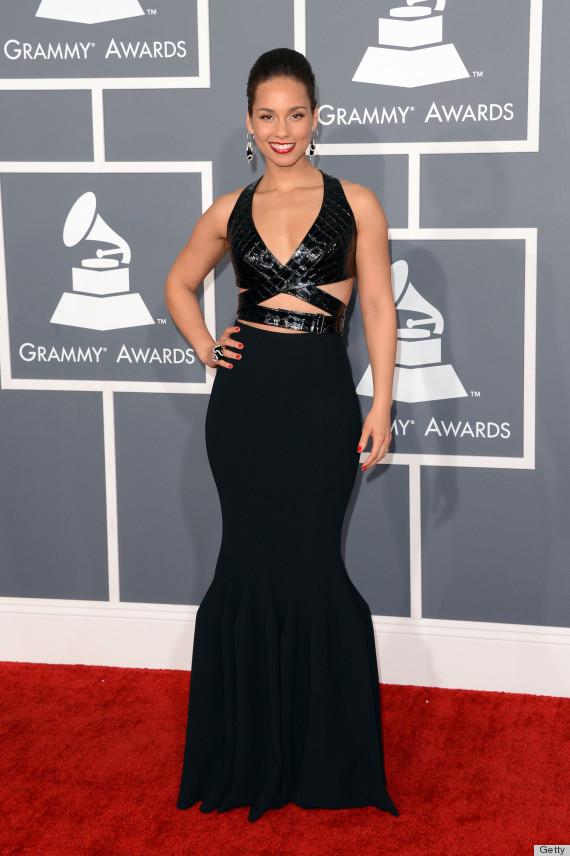 Alicia Keys  Grammys Dress 2013 Bares Just Enough Skin  PHOTOS Alicia Keys Grammy Dress