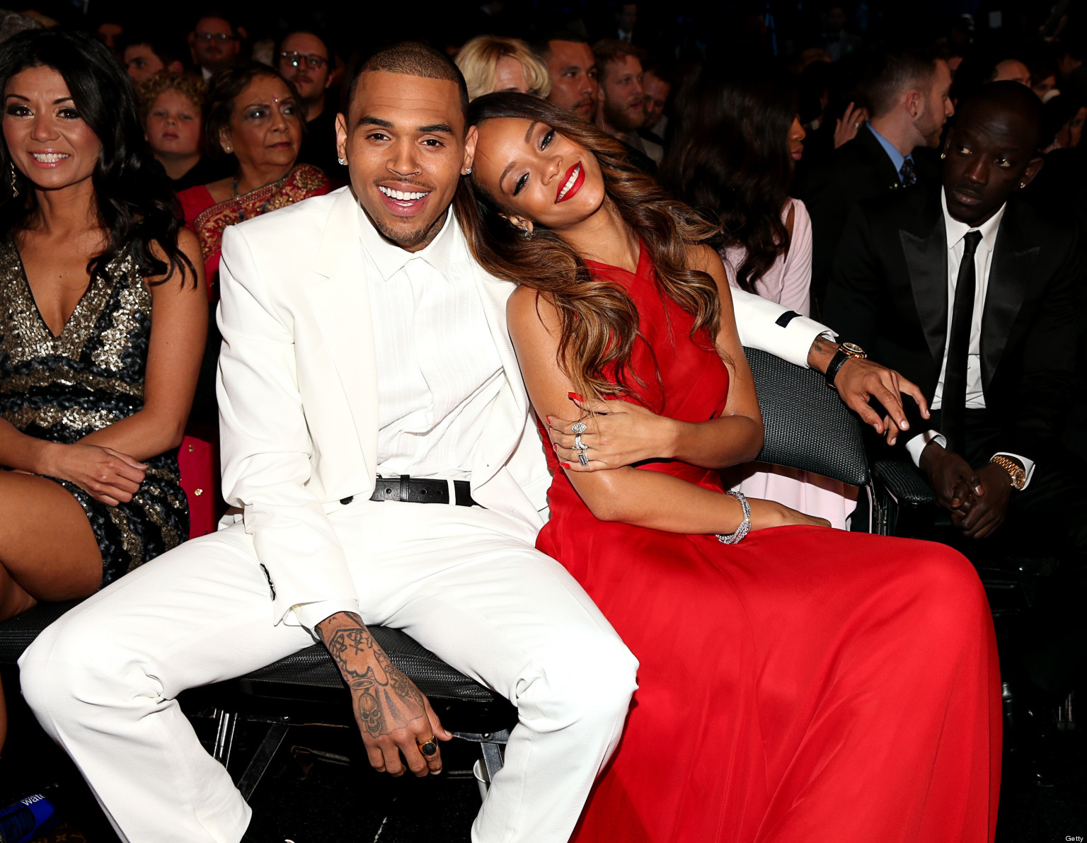 Chris Brown & Rihanna Get Cozy At The Grammys