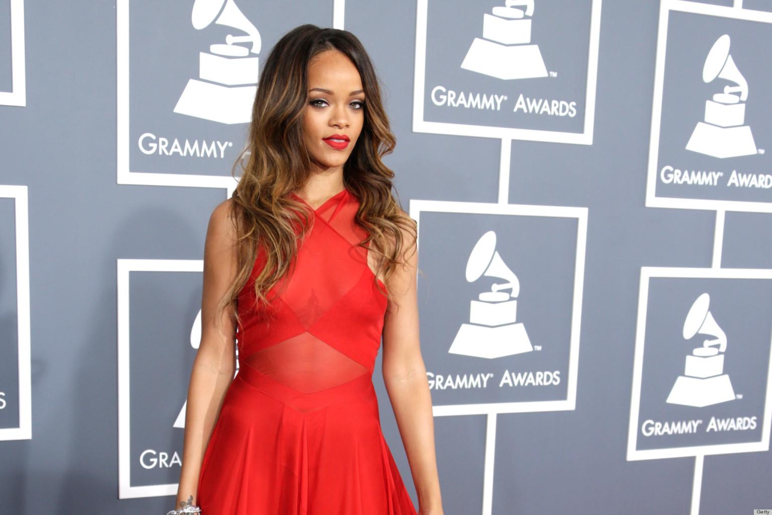 Rihanna's Grammys Dress 2013