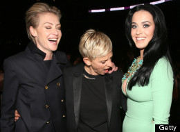 Ellen DeGeneres Caught Checking Out Katy Perry