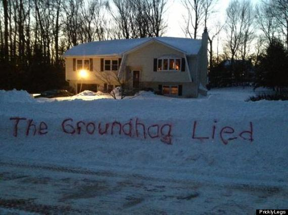 the groundhog lied