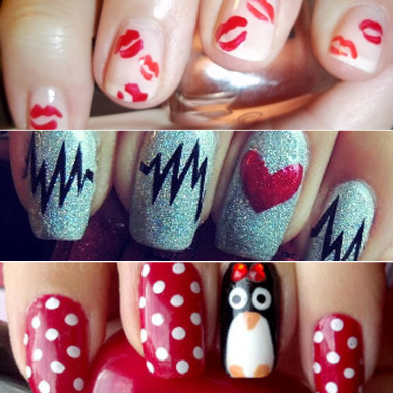Nail Art Valentines: 28 Valentine's Day Nail Art Ideas To Put You In The Mood