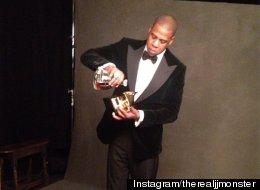 PHOTOS: Jay-Z Drank Cognac Out Of His Grammy Award