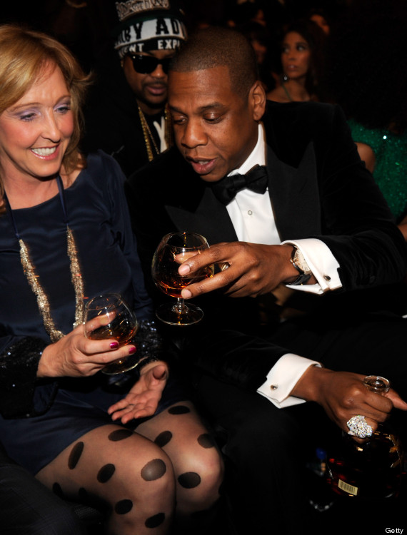 Jay Z Drinks Cognac Out Of His Grammy Award Photos