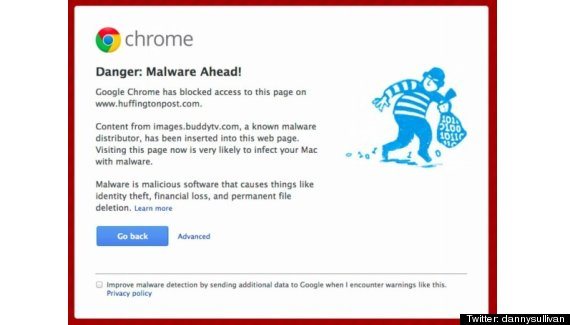 google chrome malware