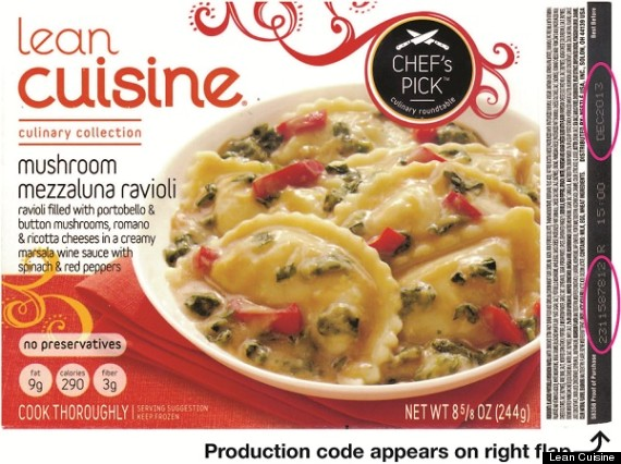 Lean cuisine ravioli dish recalled after glass fragments for Are lean cuisine meals healthy