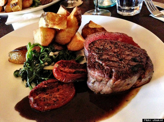 porterhouse potato gratin creamed spinach fried onions two bottles of barolo and a cheesecake does that meal sound delicious holy yes it does - Valentine Day Meals To Cook At Home