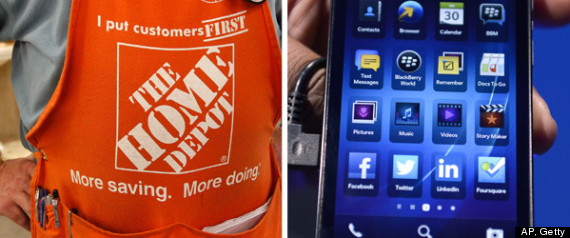 HOME DEPOT BLACKBERRY