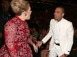 Grammys 2013: Adele Seen 'Shouting' At Chris Brown (PICS)