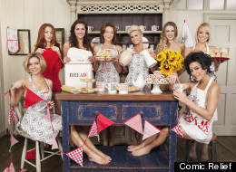 Stars Strip Off For Comic Relief Calendar