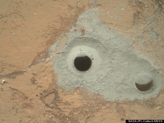 curiosity first sample drilling