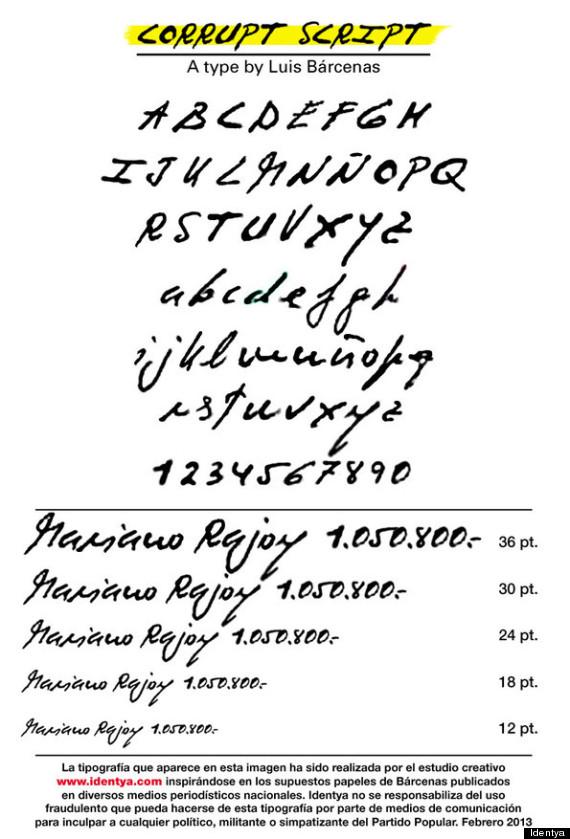 corrupt script tipografía barcenas