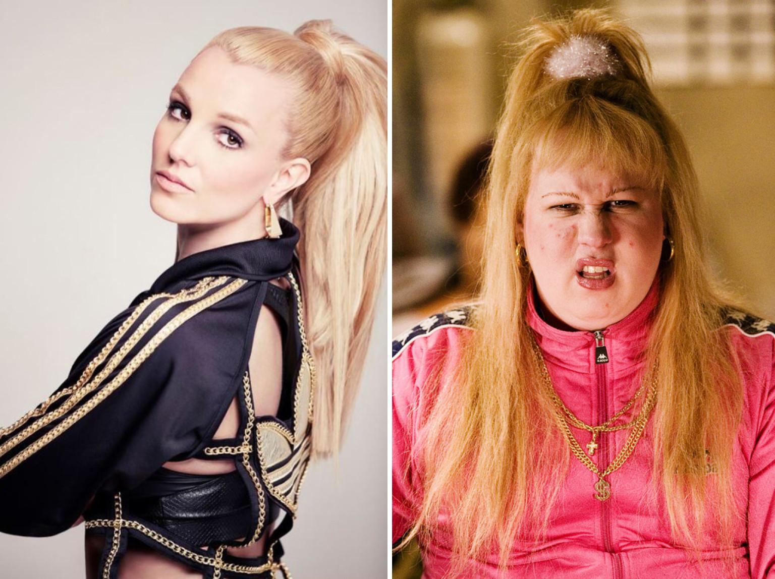 Britney Spears Channels Her Inner Vicky Pollard On Set Of