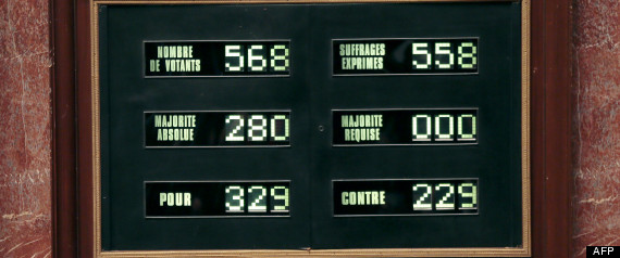 MARIAGE GAY VOTE FRANCE