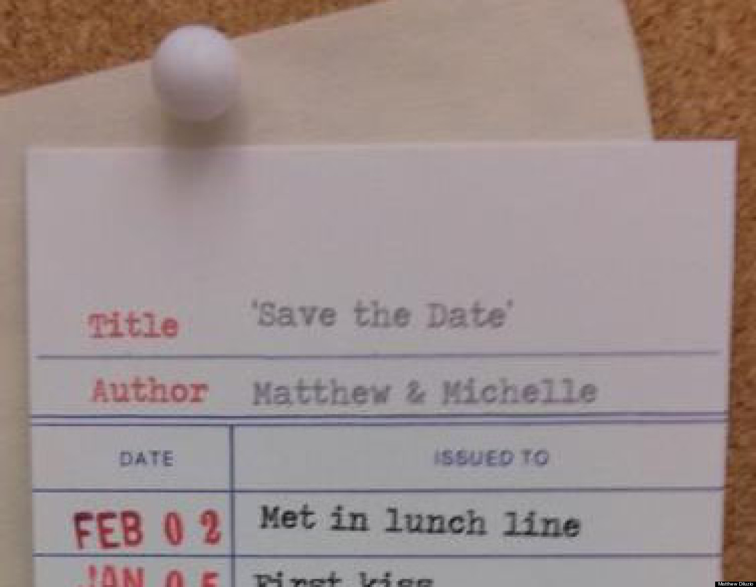 Unique Save-The-Date Card: Amazing Stationery Modeled After ...