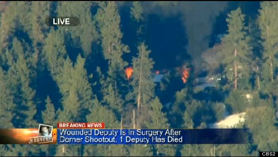 chris dorner cabin fire