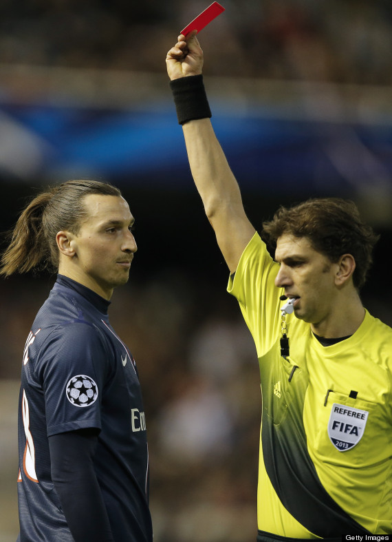 ibrahimovic sent off