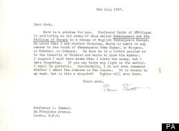 Hidden TS Eliot Letter Discovered