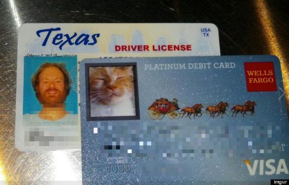 Wells Fargo Customer's Ingenious Cat Debit Card Is Real (PHOTO