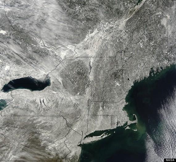 satellite image snow