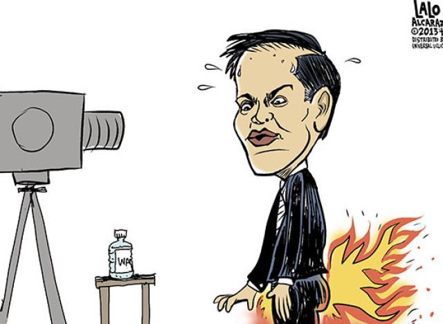lalo alcaraz rubio pants on fire