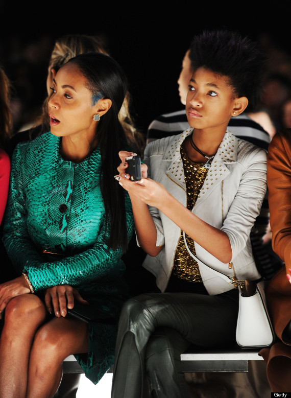 Willow Smith Jada Pinkett Smith Attend New York Fashion