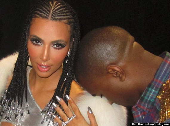 kim kardashian cornrows