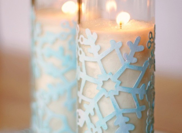 Winter Snowflake Votives